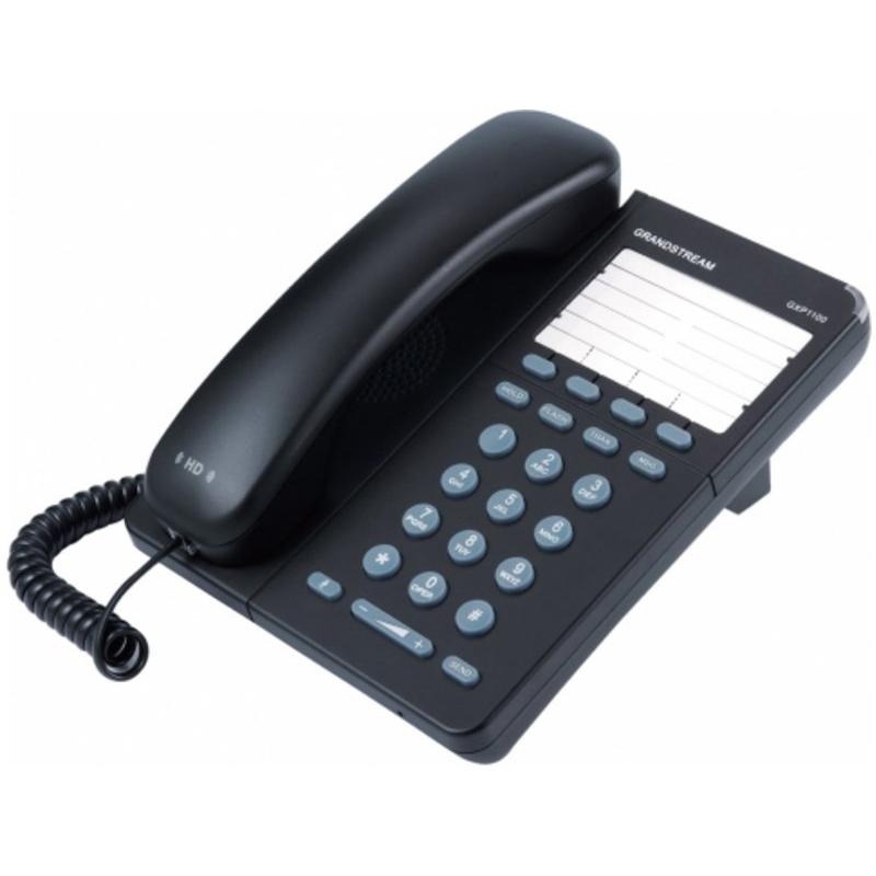 Grandstream GXP-1100Es un teléfono IP de nueva generación para la pequeña empresa. Puede gestionar hasta 2 llamadas con 1 cuenta SIP. 4 teclas programables.Ofrece una calidad superior de audio en alta definición (HD), Protección de privacidad avanzada y una amplia interoperabilidad con otros dispositivos. Es una opción perfecta para una pequeña oficina.Teléfono IP básico por un atractivo precio.