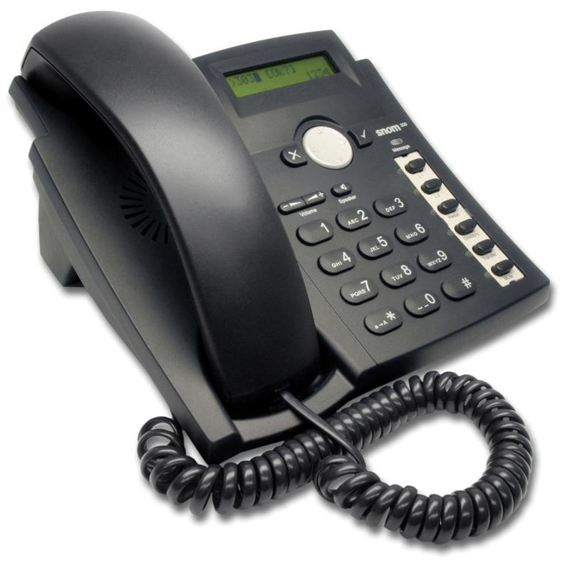 SNOM 300+  Pantalla LCD de dos líneas (2x16) 6 teclas de función programables  27 teclas, 7 LED informativos  2 puertos 10/100Mbit RJ-45  Agenda de 100 registros   Sencilla gestión de funciones   Importación / Exportación de agenda    Marcación rápida   Deducción de número   Listas de llamadas perdidas, recibidas y marcadas (100 entradas en cada lista)   Indicador de llamada en espera   Reloj   Bloqueo de llamadas (lista de denegación)  Bloqueo de llamadas anónimas   Gestión de 4 llamadas simultáneas / 4 cuentas SIP  Interfaz de usuario por menú  Opción de no molestar   Altavoz Full Duplex   Modo de respuesta automática  Bloqueo de teclado   Llamada en espera/ cambio de llamada  Conferencia