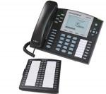 Grandstream GXP-2120  Pantalla LCD (320 x 160 píxeles) Hasta 6 cuentas SIP simultáneas 2 puertos RJ-45 7 teclas programables Soporte multilínea de hasta 11 indicadores de línea  Detección de Voz (VAD) y supresión de silencio  DSP avanzado para asegurar una calidad de audio de alta fidelidad Control de volumenCNG (Comfort Noise Generation) Montaje en pared, sobremesa   Expansión de 56 teclas Expansión del teclado de 56 teclas con LEDs rojo/verde para monitorizar las extensiones. Posibilidad de conexión de hasta 2 expansiones de teclas.
