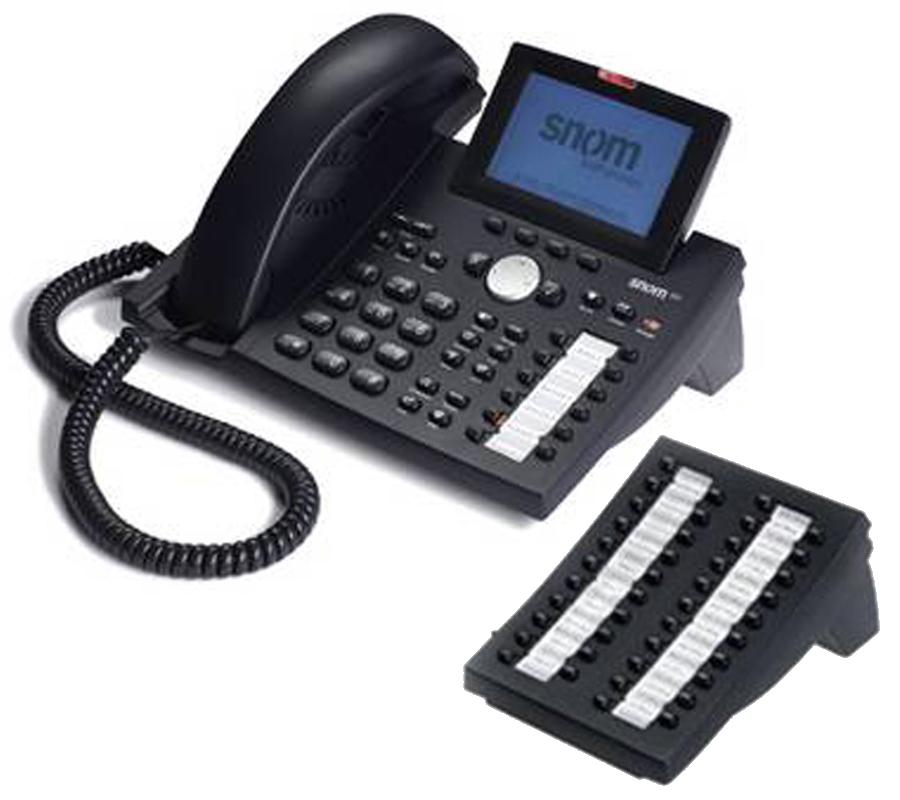 SNOM 370  Pantalla LCD de alta resolución 240 x 128 12 teclas de función programables. 47 teclas, 12 LED (hasta 138 teclas con los módulos de expansión) Agenda de 250 registros 2 puertos RJ-45 Identificación de llamada (con imagen) Importación / Exportación de agenda Marcación rápida Deducción de número Listas de llamadas perdidas, recibidas y marcadas (100 entradas en cada lista) LED indicador de llamada en espera Reloj Bloqueo de llamadas (lista de denegación) Bloqueo de llamadas anónimas Gestión de 12 llamadas simultáneas Opción de no molestar Altavoz Full Duplex Modo de respuesta automática Bloqueo de teclado Llamada en espera / cambio de llamada Conferencia a 3 Soporte de múltiples dispositivos audio  Expansión 42 teclas para SNOM 370 Expansión del teclado de 42 teclas con LEDs •Posibilidad de conexión de hasta 3 expansiones sin alimentación y 7 expansiones con alimentación