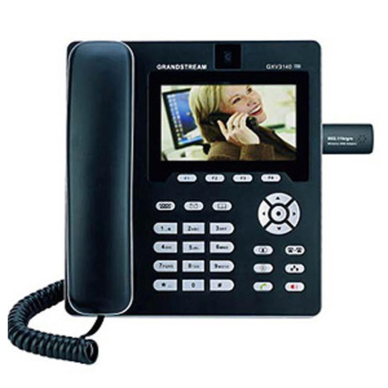 """Grandstream GXV-3140  Pantalla LCD TFT digital de Color 4.3"""" (480 x 272) Cámara ajustable CMOS de 1.3 Megapíxeles y tapa de privacidad Soporta hasta 3 cuentas SIP simultáneas 2 puertos RJ-45 Puerto opcional FXS/FXO 2 puertos USB Slot para tarjetas SD/MMC/SDHC Soporte multilínea de hasta 3 indicadores de línea Dynamic negotiation & voice payload length Deteccion de Voz (VAD) y supresión de silencio Cancelación de eco (G.168) DSP avanzado para asegurar una calidad de audio de alta fidelidad CNG (Comfort Noise Generation) Montaje en pared, sobremesa"""